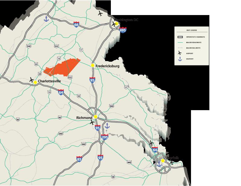 Route 522 Virginia Map.Transportation Orange County Virginia Economic Development